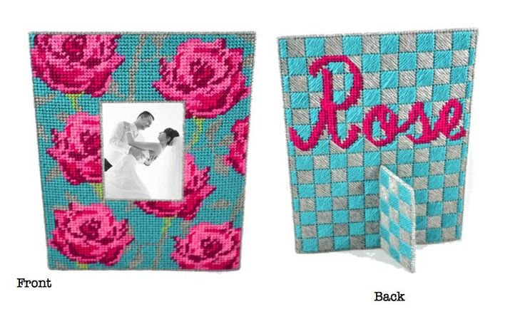 Complete kit to make this stunning frame! #frame #photo #pink #roses