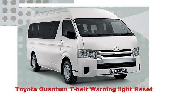 Toyota Quantum T-belt Warning light Reset | Hiace, Quantum, T-belt