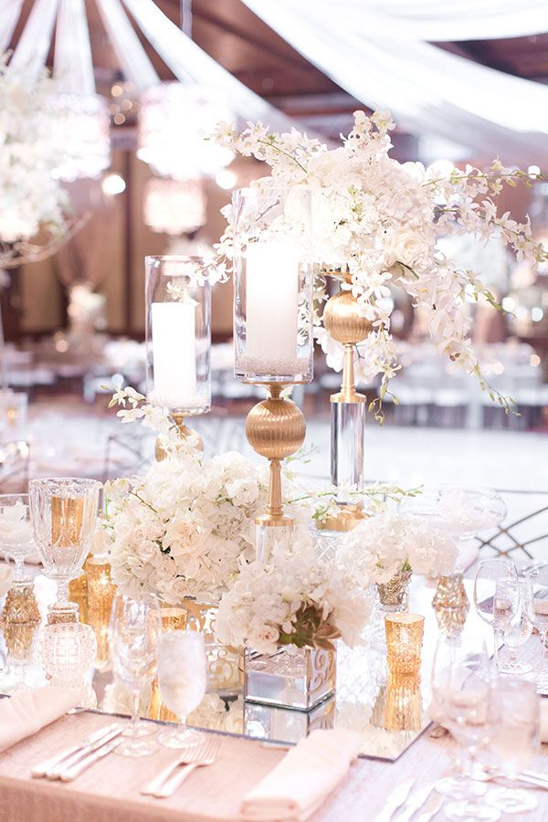 White and Gold Dream Wedding