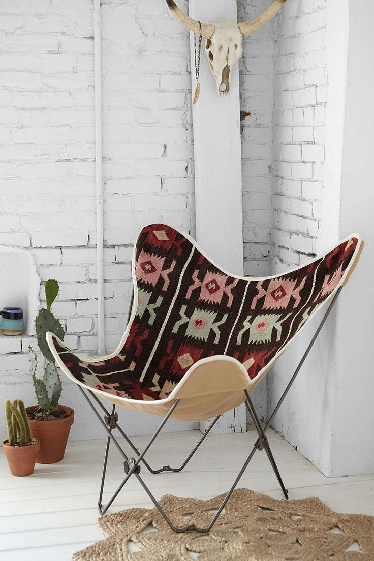 Kilim Butterfly Chair Cover  Multi One