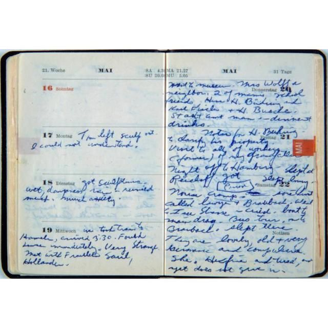 Context and Silence: On the Art Writings of Eva Hesse and Cady Noland/ Cynthia Cruz //////image va Hesse, 1965 Appointment Diary