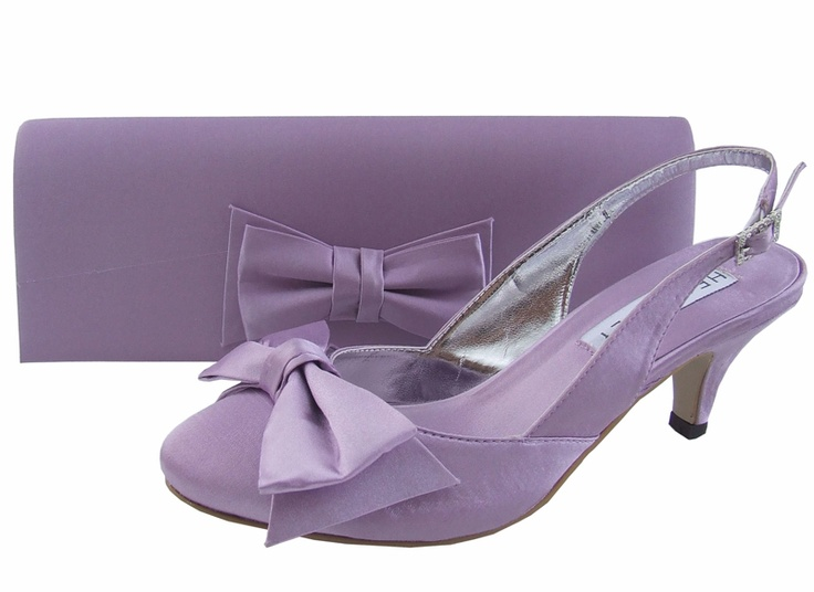 Lilac Ladies Shoes, Evening Shoes, Ladies Shoes.  Also available in navy, lime green, brown, purple, pale pink, fuchsia pink, coral & ivory.