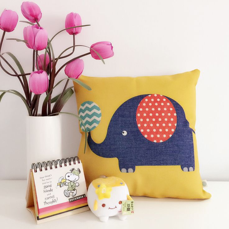 Refresh your nursery with a brave playful color, yellow!  Check for more beautiful cushions www.etsy.com/shop/BluStore  #cushion #design #australia #melbourne #sydney #perth #brisbane #queensland #creative #pillow #lifestyle #etsy #modern #homeware #homedeco #gift #idea #elephant #yellow #nursery #children #kids #blustorau