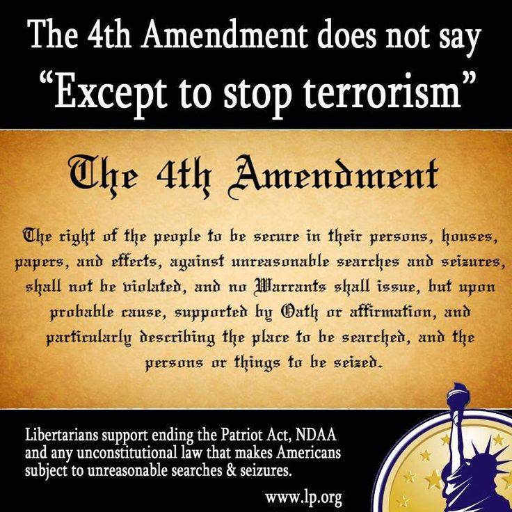 an analysis of the fourth amendment to the constitution Analysis of the evolution of the  the constitution of the united states was written to protect the rights of  as stated by the fourth amendment,.