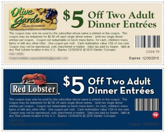 $5 Huggies Print Coupon | Get Two $5.00 Off Printable Coupons for Red Lobster and Olive Garden ...
