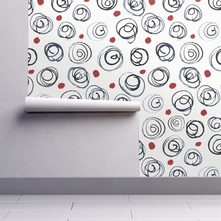 Isobar Durable Wallpaper featuring Whorls by wildflowerfabrics | Roostery Home Decor