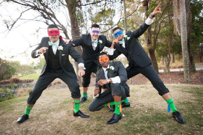 Teenager Mutant Ninja Turtles TMNT tragics they had to do this on the wedding day haha