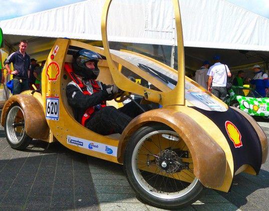 Aston University, Shell,shell eco marathon challenge, green transportation, cardboard car, hydrogen car, green car, plywood car