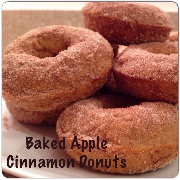 Baked Apple Cinnamon Donuts- Just like the apple orchard :)