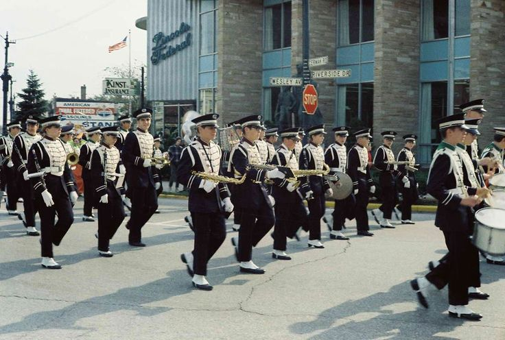 Morton East High School Cicero,IL 1969 homecoming parade. I marched in that parade...you just can't quite see the flutes.