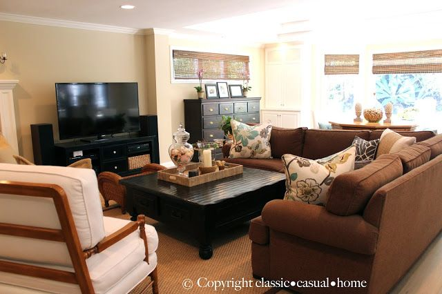 classic • casual • home: Casual Family Room Before/After and Our Puppy