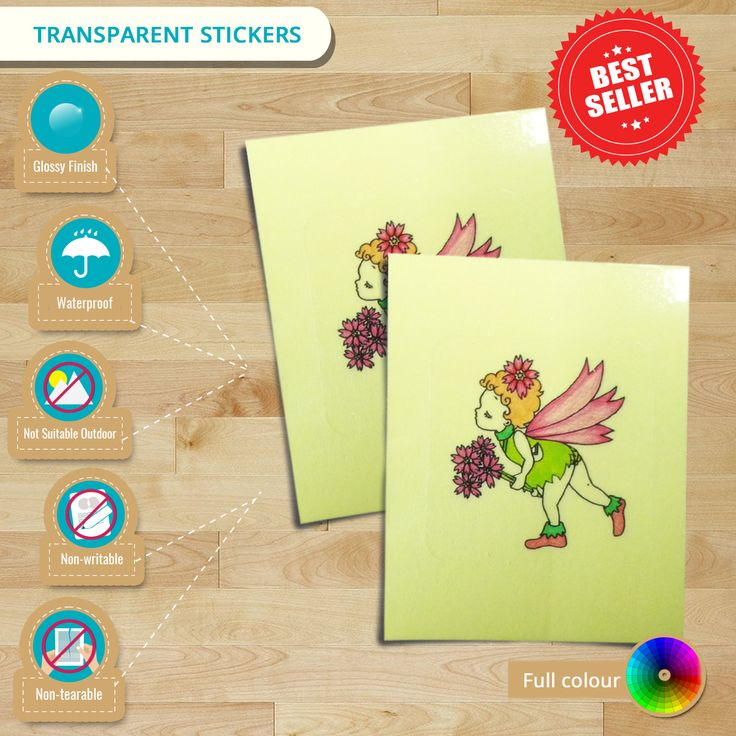 Infographic transparent stickers best selling clear waterproof label get
