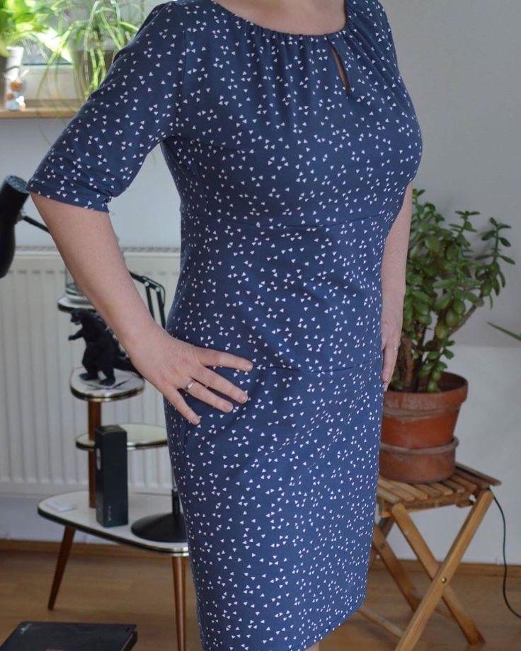 """Yvonne (@wonnie01) auf Instagram: Kleid nach einem Schnittmuster von #rosap Modell Murmel. Schnittmuster aus dem Buch """"näh dir dein Kleid"""" von rosa p (www.rosape.de)"""