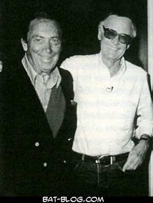 """""""Bob Kane and Stan Lee"""" <---- Do you even understand the awesomeness that is this picture??"""