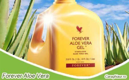 Forever Aloe Vera Gel: Benefic pentru menţinerea sănătăţii sistemului digestiv; Conţine peste 200 de compuşi activi.