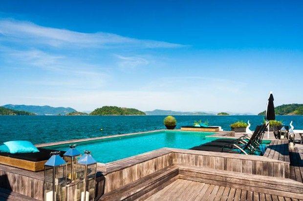 Pousada em ilha no RJ está entre as estadias mais luxuosas do mundo (Foto: Holiday Lettings/Divulgação) http://glo.bo/1E6vgmd