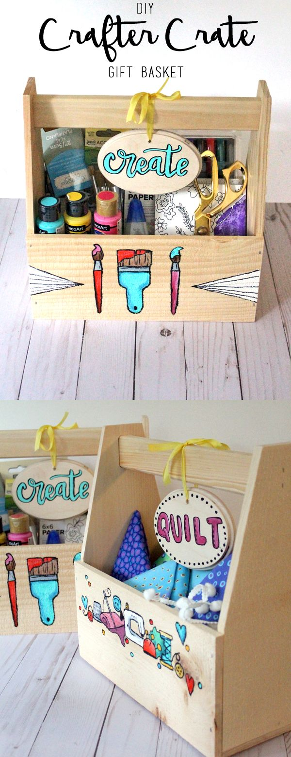"""DIY """"Crafter Crates"""": Gift Baskets for your Creative Friends 