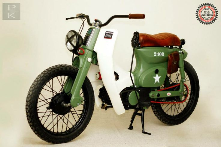 "HONDA CUB ""The Bomber"" link:youtube/honda cub rules the revival"