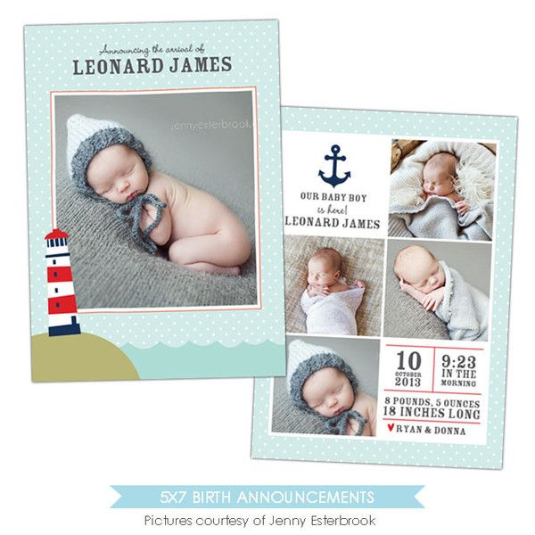 Best Birth Announcement Templates Images On   Adobe