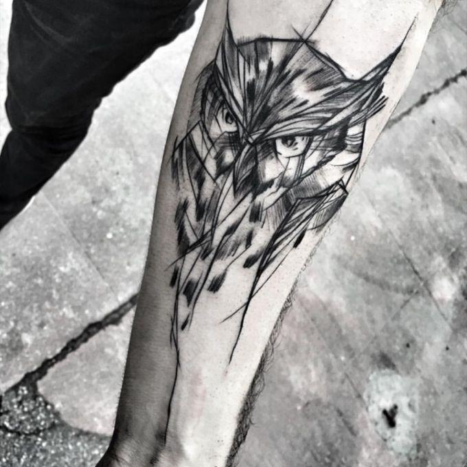 Owl Tattoo Sketch