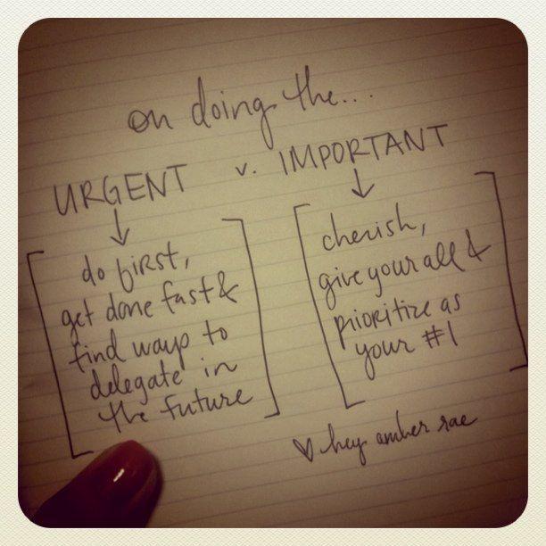 Urgent Vs Important Inspiration Pinterest Quotes Best Quotes