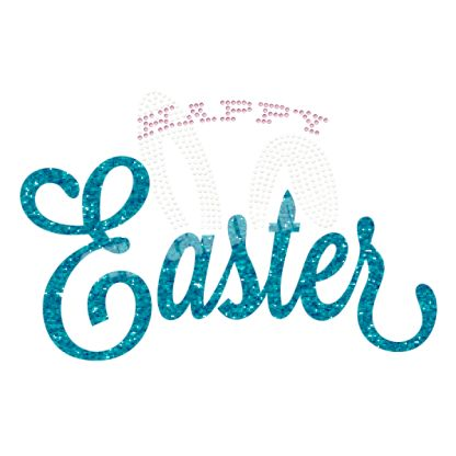Happy Easter Bunny New Rhinestone Heat Transfers Decal