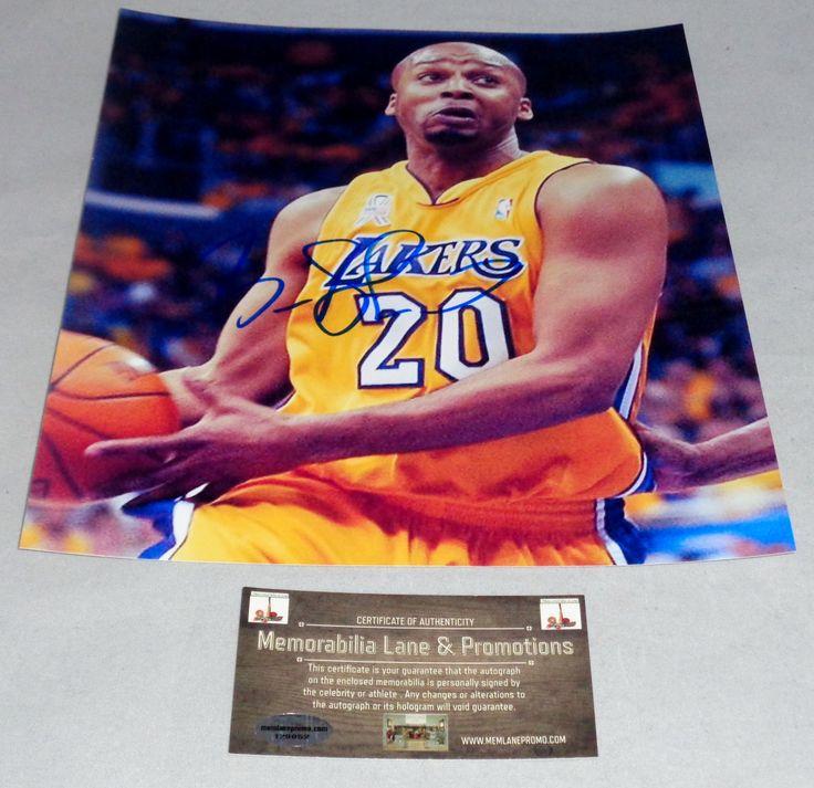 Brian Shaw LAKERS action shot autograph 8x10 COA Memorabilia Lane & Promotions