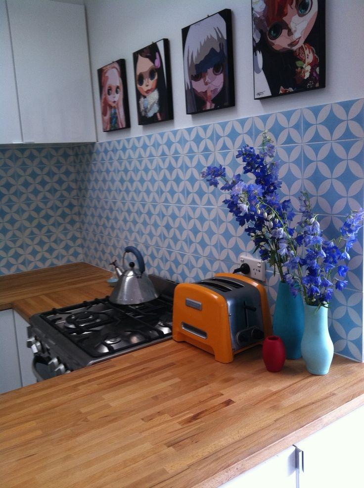 36 best tile splashback ideas images on pinterest - Tile splash kitchen ...