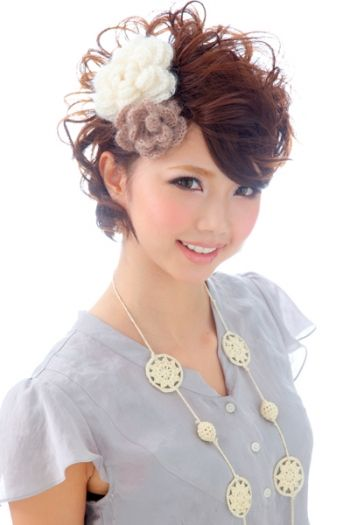 ショートヘアでも可愛くできる!結婚式髪型ヘアアレンジ集 (2ページ目)   MERY [メリー] - 女の子のためのキュレーションメディア