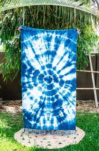 MAYDE x LEONARD & CO. SHIBORI TOWEL - SUPERNOVA 100% Cotton towel Indigo dye on white