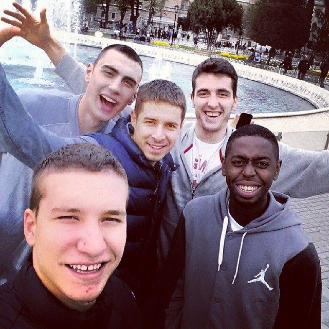 KK Partizan ready to roll against Galatasaray - Nikola Milutinov, Milenko Tepić, Mihajlo Andrić, Boris Dallo and Bogdan Bogdanović
