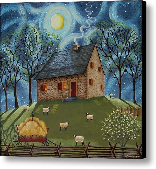 Hans Herr House Canvas Print / Canvas Art By Mary Charles