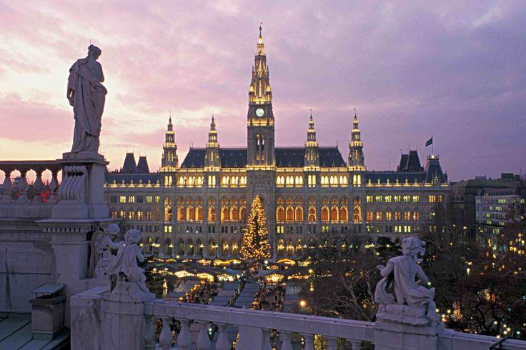 Обои 2520x1677 пикс. Обои Вена, Рингштрассе, Ратуша, рынок, города и страны, рождество, австрия