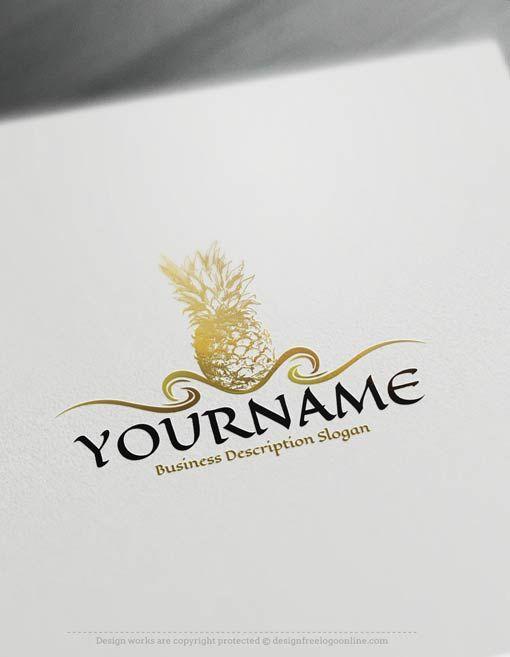 Create a logo Free – Pineapple Logo Template