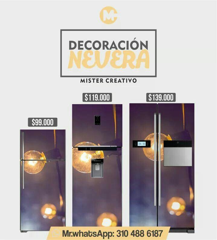Vinilos decorativos para nevera.  Mr.Whatsapp 3104886187.