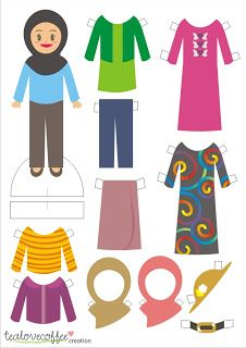 paper dolls to try when baby girl is bigger inshAllah