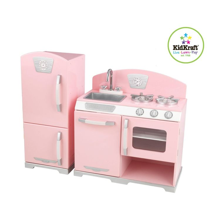 Gifts for Girls ~ Ooooh, I love this pink retro kitchen from Kidkraft!  Looks similar to the ones offered by Pottery Barn, but this one is a MUCH better price.  Order it from Amazon and get free shipping.