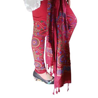 Buy Fashion LifeStyle Maroon Cotton Legging With Dupatta by Fashion LifeStyle, on Paytm, Price: Rs.489?utm_medium=pintrest