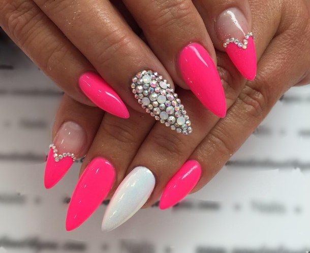 Barbie pink cute fashion heart pink pink nails pretty pretty in pink pretty nails style Fashion style and nails facebook
