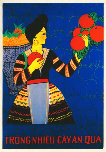 """Poster Fruits Vietnam - """"Plant a lot of fruit trees"""""""