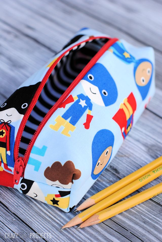 DIY Pencil Bag created with Cricut Explore -- Crazy Little Projects. #DesignSpaceStar Round 2
