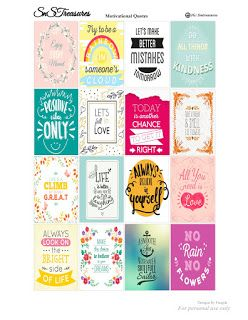 Free Printable Quotes Planner Stickers from Snstreasures