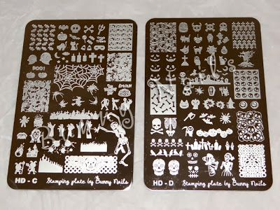 18 best bunny nail stamping plates images on pinterest bunny halloween dia de muertos sugar skull nail art stamping plate prinsesfo Image collections