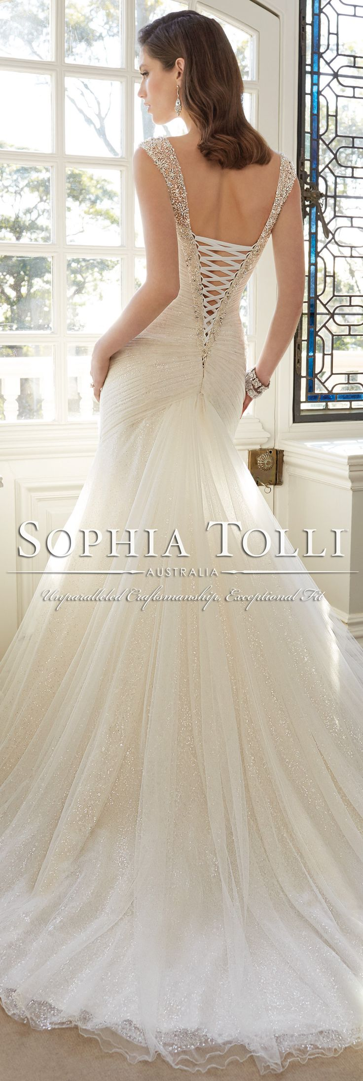 The Sophia Tolli Spring 2016 Wedding Dress Collection - Style No. Y11640 - Candace #tulleweddingdress