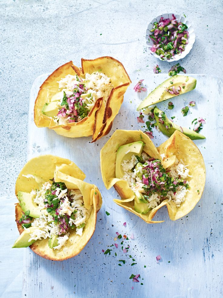Give crab the Mexican treatment with this quick and easy tostada recipe.