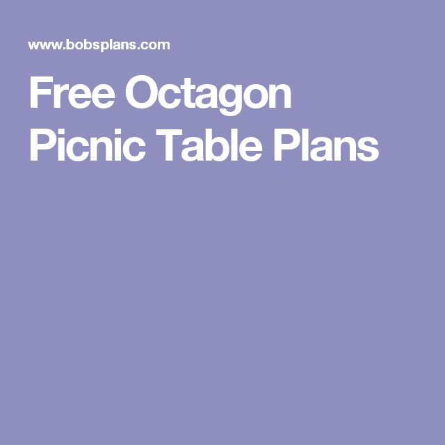 Permalink to free octagon picnic table plans with umbrella hole