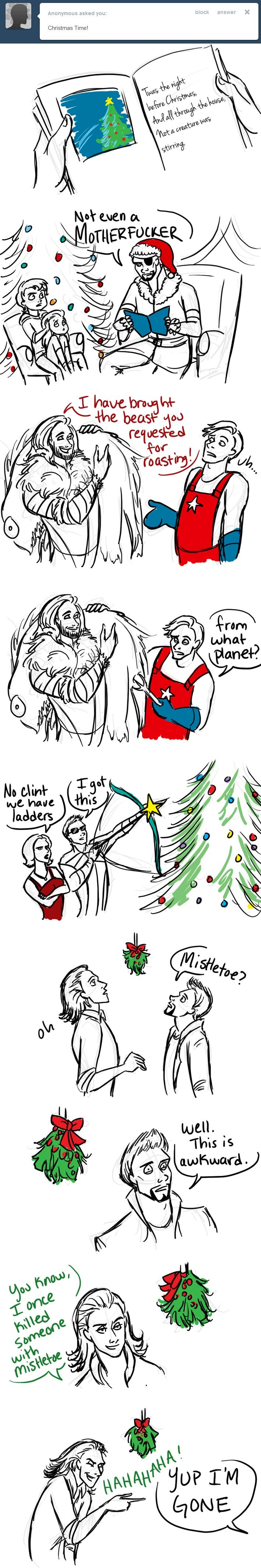 by tumblr Avengers Christmas