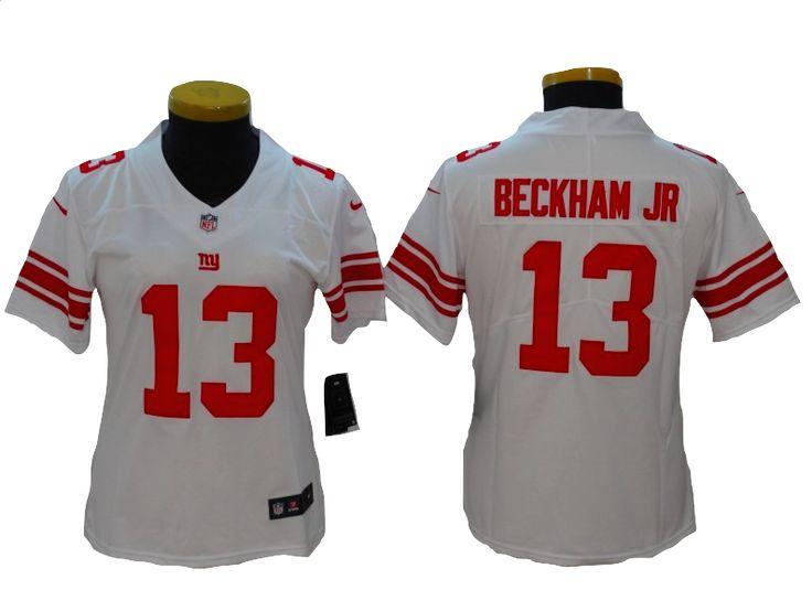 New York Giants Jersey - 13 Odell Beckam Jr Womens White Vapor Untouchable Jersey