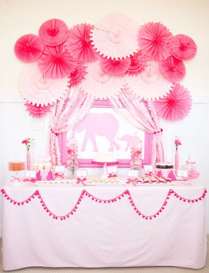 Adorable Pink Baby Shower