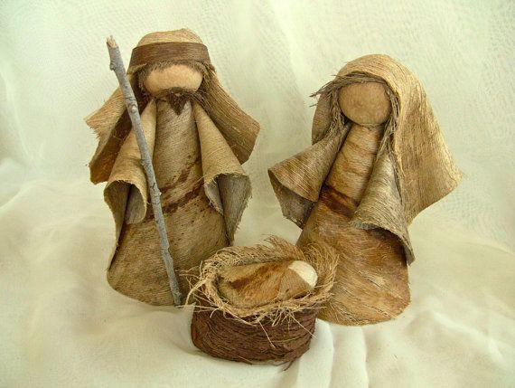 """Natural Hawaiian Coconut Nativity, 6"""""""